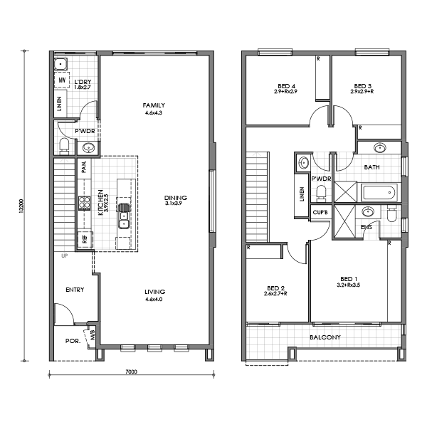 Banksia townhouse for Small townhouse floor plans