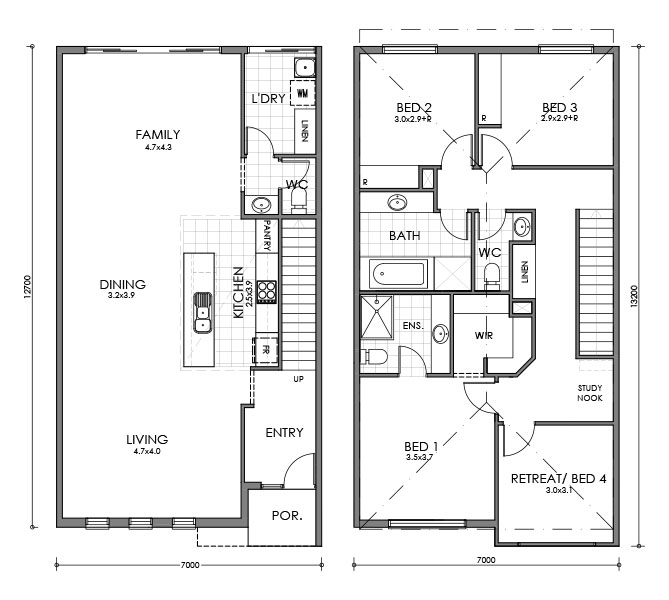 Lincoln townhouse for Small townhouse floor plans